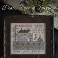 Peace Love & Purpose Cross Stitch Pattern by Little House Needleworks