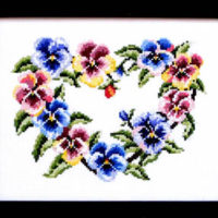 Pretty Pansies Cross Stitch Pattern by Bobbie G Designs