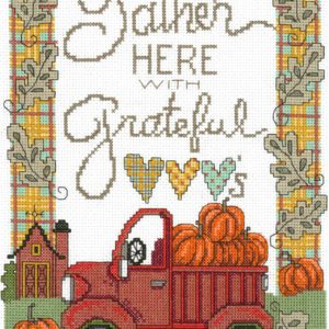 Gather With Grateful Hearts Cross Stitch Pattern by Imaginating