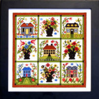 Baltimore Village Cross Stitch Pattern by Bobbie G Designs