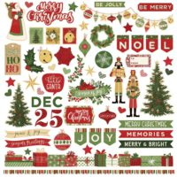 PhotoPlay Christmas Memories Stickers 12″X12″ Elements