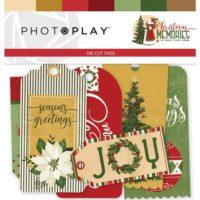 PhotoPlay Christmas Memories Ephemera Cardstock Die-Cuts Tags