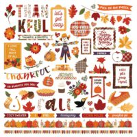 PhotoPlay Mad 4 Plaid Fall Stickers 12″X12″ Elements