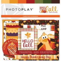 PhotoPlay Mad 4 Plaid Fall Ephemera Cardstock Die-Cuts
