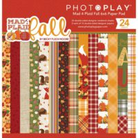 PhotoPlay Mad 4 Plaid Fall Double-Sided Paper Pad 6″X6″ 24/Pkg