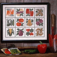 Farmer's Market Cross Stitch Pattern by The Prairie Schooler
