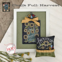 Harvest Chalk Full Cross Stitch Pattern by Hands On Designs