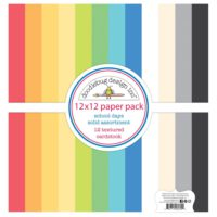 Doodlebug SCHOOL DAYS Textured Double-Sided Cardstock 12″X12″ Pack