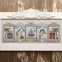Summer Seascape Cross Stitch Pattern by Country Cottage Needleworks
