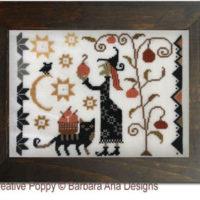 Witchy Harvest Cross Stitch Pattern by Barbara Ana