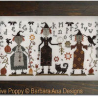 Three Witches Cross Stitch Pattern by Barbara Ana