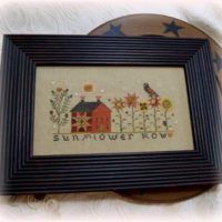 Sunflower Row Cross Stitch Pattern by Annie Beez Folk Art