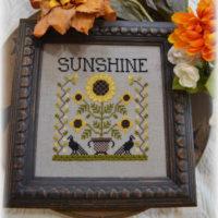 Sunshine Cross Stitch Pattern by Annie Beez Folk Art