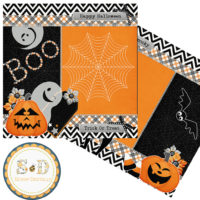 HALLOWEEN BOO 2 Premade Scrapbook Layout Pages – Digital Scrapbooking
