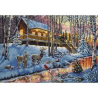 Charming Waterway Cross Stitch Kit ~ Dimensions Gold 16 Count