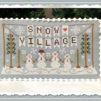 Snow Village Cross Stitch Pattern by Country Cottage Needleworks