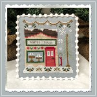 Snow Village 2 – Skate & Sled Shop Cross Stitch Pattern by Country Cottage Needleworks