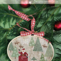 Santa's Tree Farm Cross Stitch Pattern by With Thy Needle & Thread