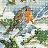 Robin in Winter Cross Stitch Kit  – Heritage Crafts