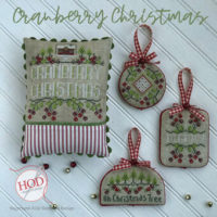 Cranberry Christmas Cross Stitch Pattern by Hands On Designs