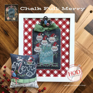 Merry Chalk Full Cross Stitch Pattern by Hands On Designs