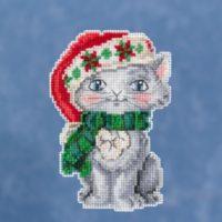 Mill Hill Kitty by Jim Shore – Beaded Cross Stitch Kit