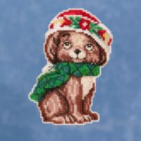 Mill Hill Puppy by Jim Shore – Beaded Cross Stitch Kit