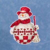 Mill Hill Nordic Snowman by Jim Shore – Beaded Cross Stitch Kit