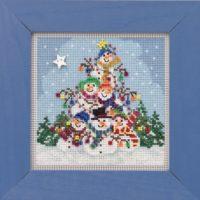 Mill Hill  Snowman Pile Beaded Cross Stitch Kit