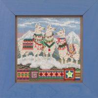 Mill Hill Fa, La, La Llamas Beaded Cross Stitch Kit