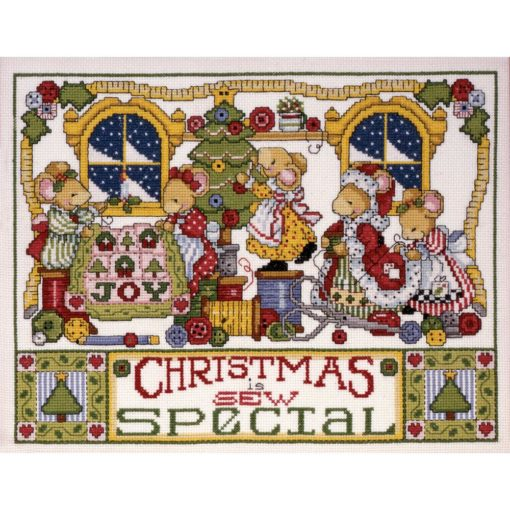 Christmas Is Sew Special Cross Stitch Kit by Design Works - 14 count