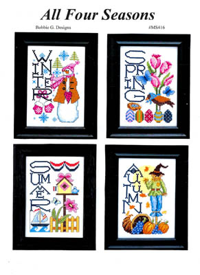 All Four Seasons Cross Stitch Pattern by Bobbie G Designs