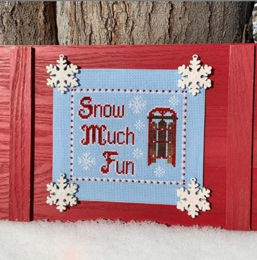 Snow Much Fun Cross Stitch Pattern by Pickle Barrel Designs