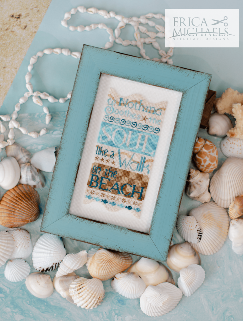 Walk on the Beach Cross Stitch Pattern