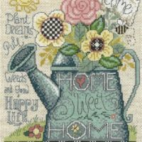 Plant, Pull, Grow Cross Stitch Pattern by Imaginating