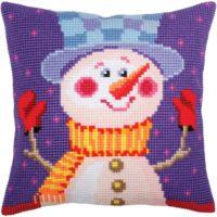 Cheerful Snowman Needlepoint Kit