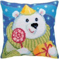 Candy Teddy – Aqua – Needlepoint Kit