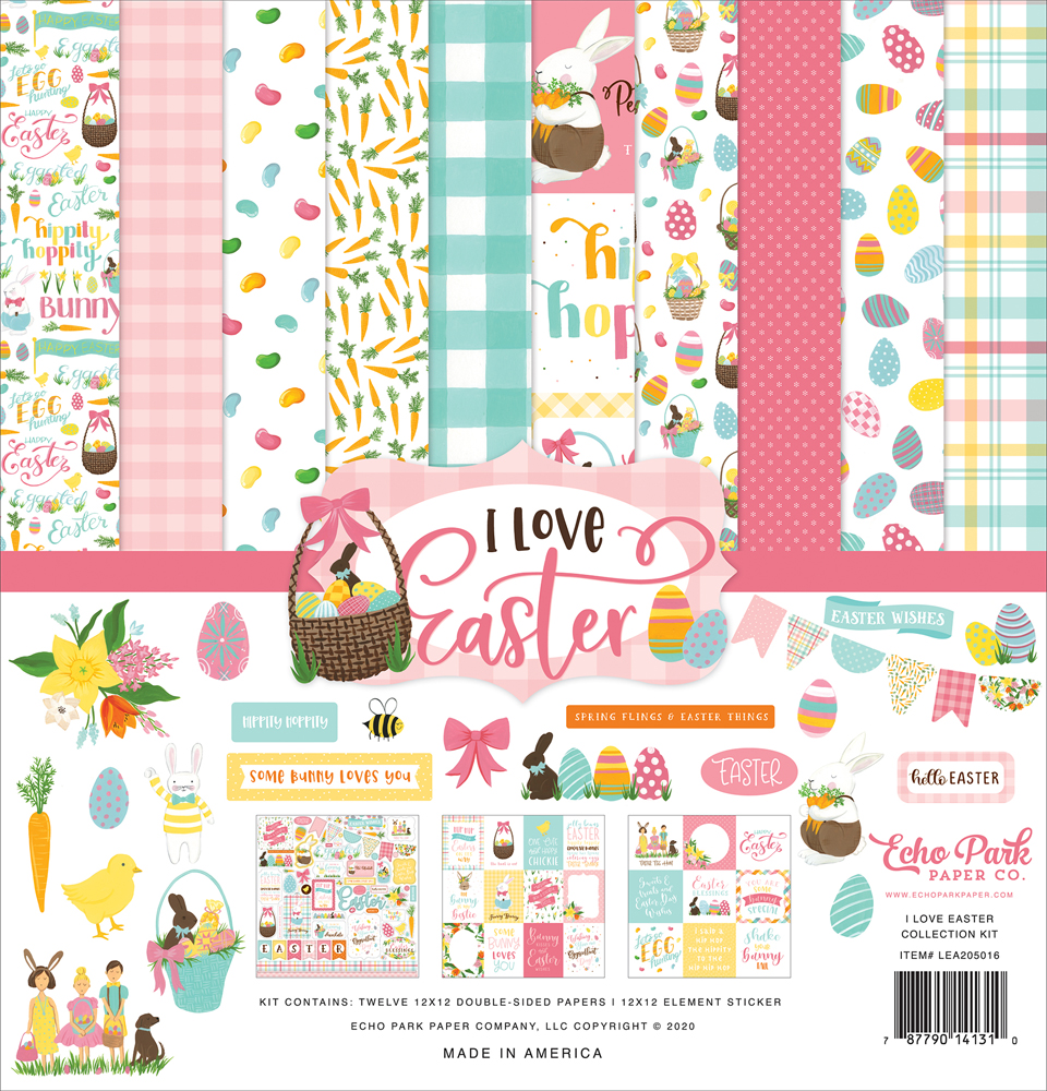 """I Love Easter 12""""x12"""" Collection Kit Echo Park"""