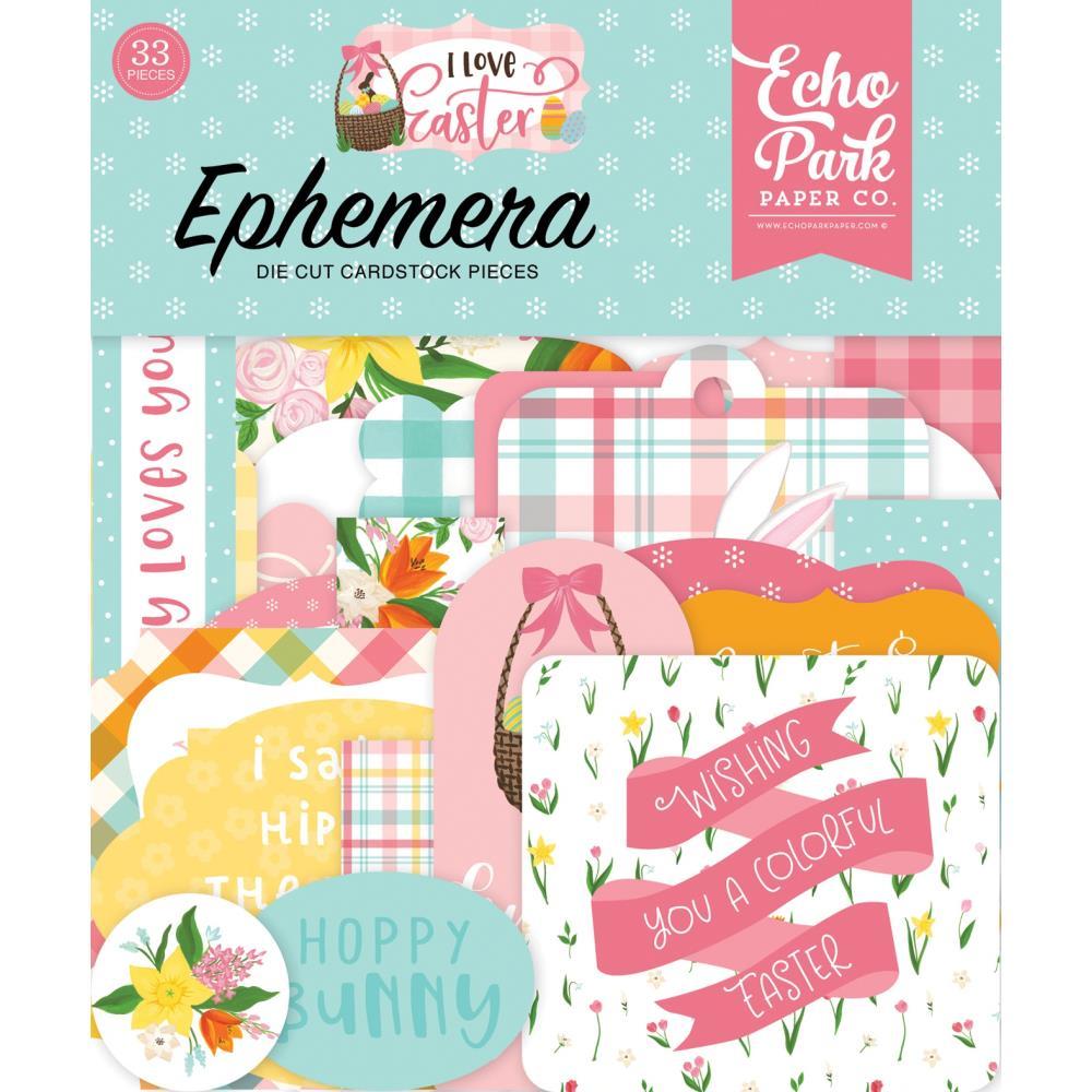 I Love Easter Cardstock Ephemera by Echo Park