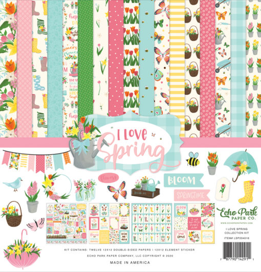 """I Love Spring 12""""x12"""" Collection Kit Echo Park"""