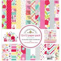 Doodlebug Love Notes 12″ x 12″ Paper Kit