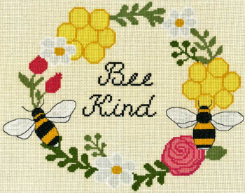 Bee Kind Cross Stitch Pattern by Imaginiating