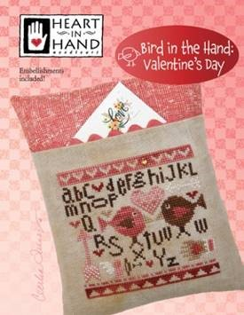 Bird In The Hand Valentine's Day Cross Stitch Patterns by Heart in the Hand