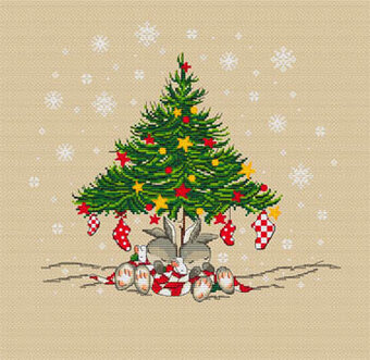 Christmas Bunnies Tree Cross Stitch Pattern by Les Petites Croix De Lucie