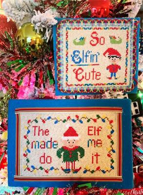 Elf Antics Cross Stitch Pattern by Pickle Barrel Designs