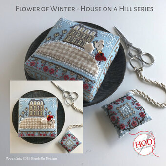 Flower Of Winter Cross Stitch Pattern by Hands On Design