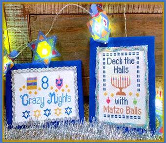 Happy Hanukkah Cross Stitch Pattern by Pickle Barrel Designs