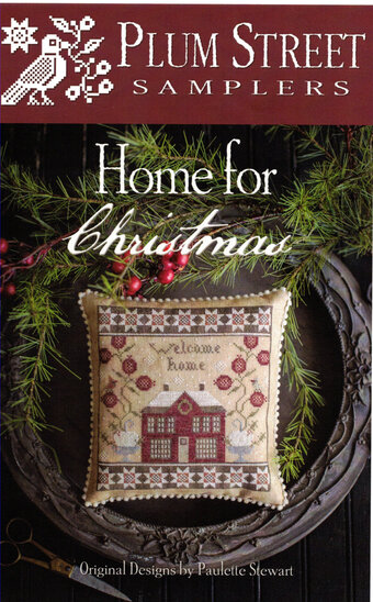 Home for Christmas Cross Stitch Pattern by Plum Street Samplers