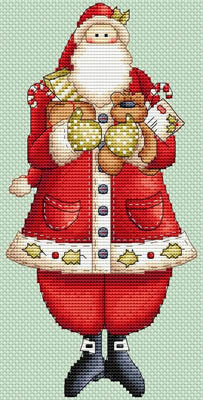 Santa Lovely Cross Stitch Pattern by Les Petites Croix De Lucie