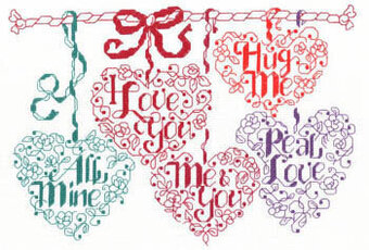 Valentine Candy Cross Stitch Pattern by Imaginating